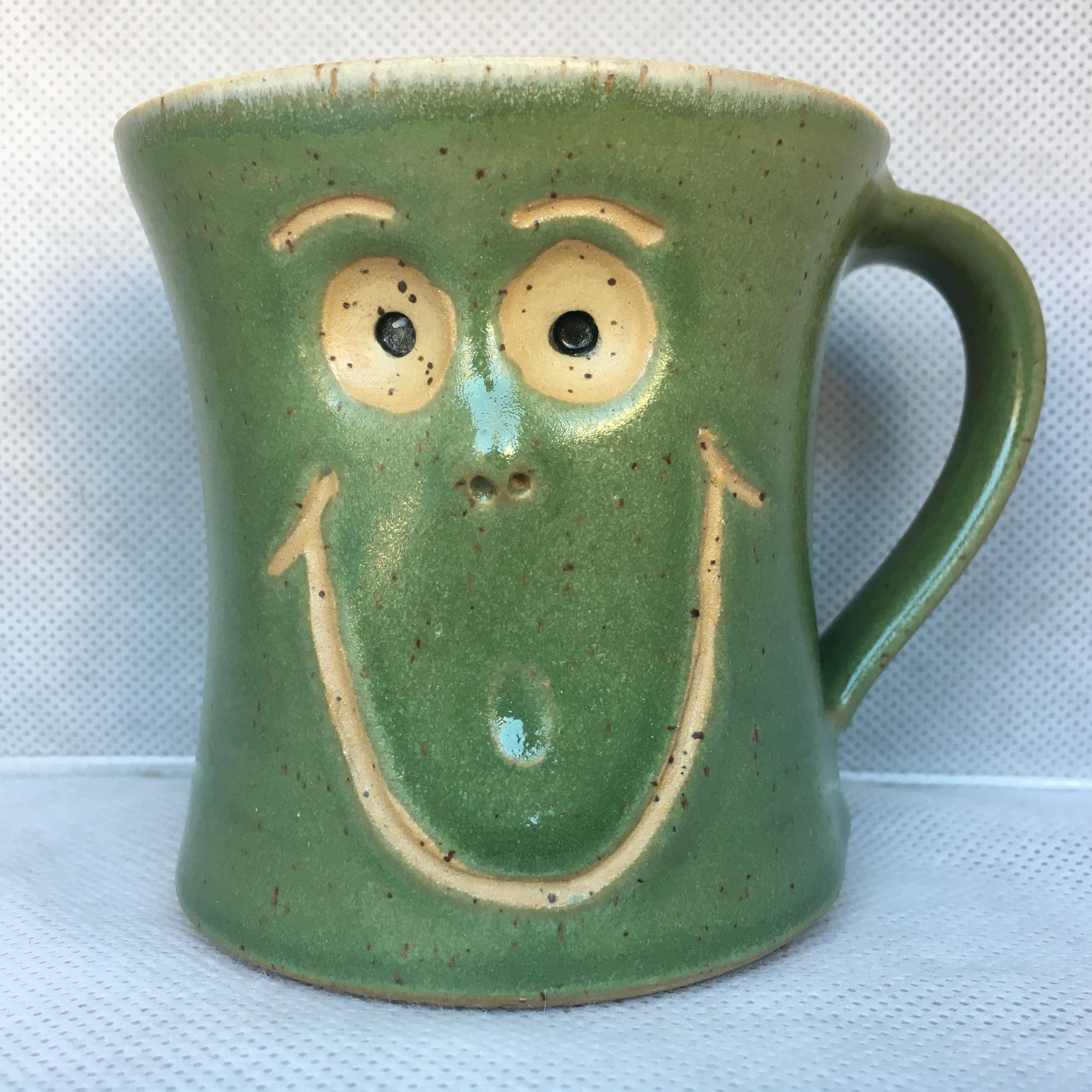 Schmunzel Tasse Grün