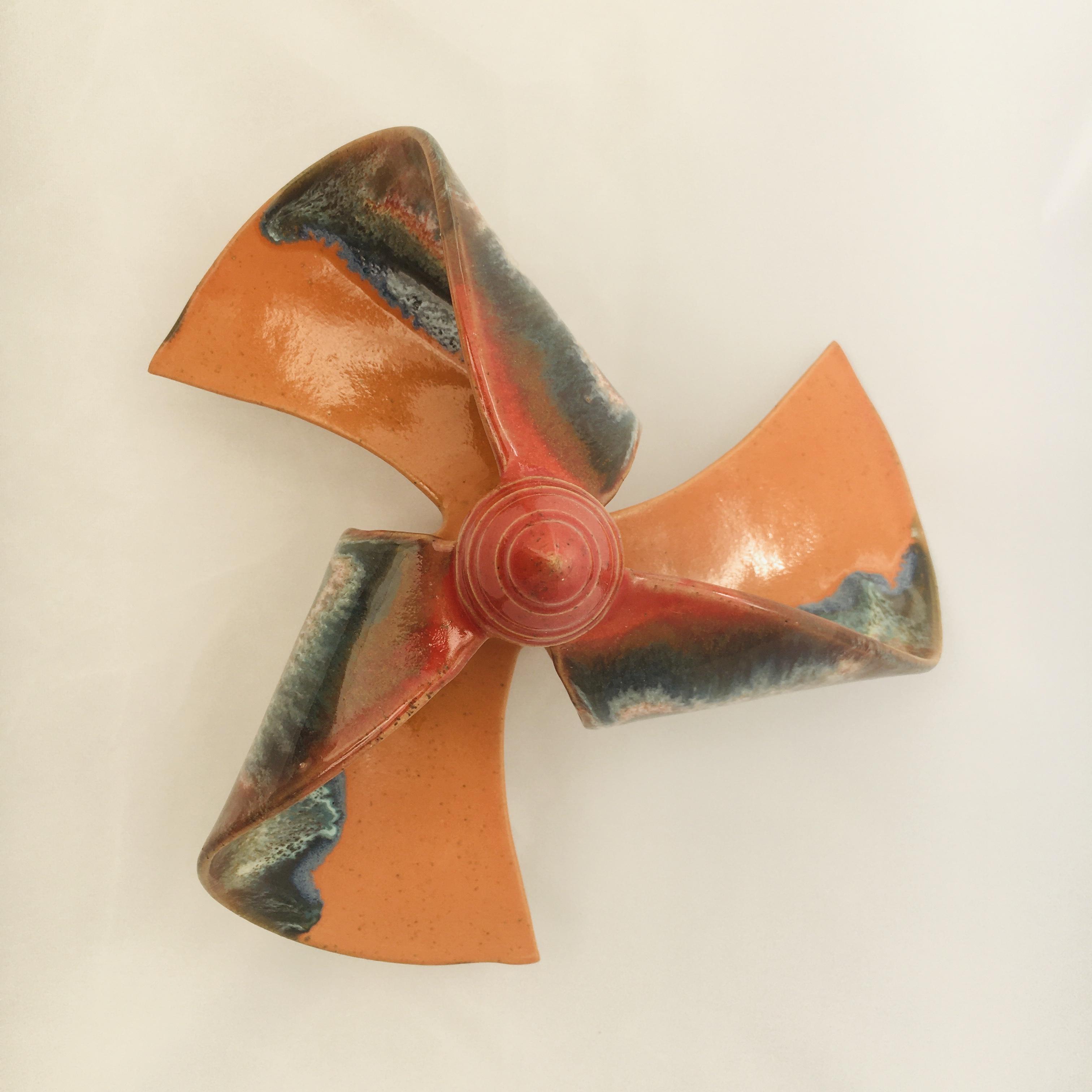 Windmühle stehend orange/ rot