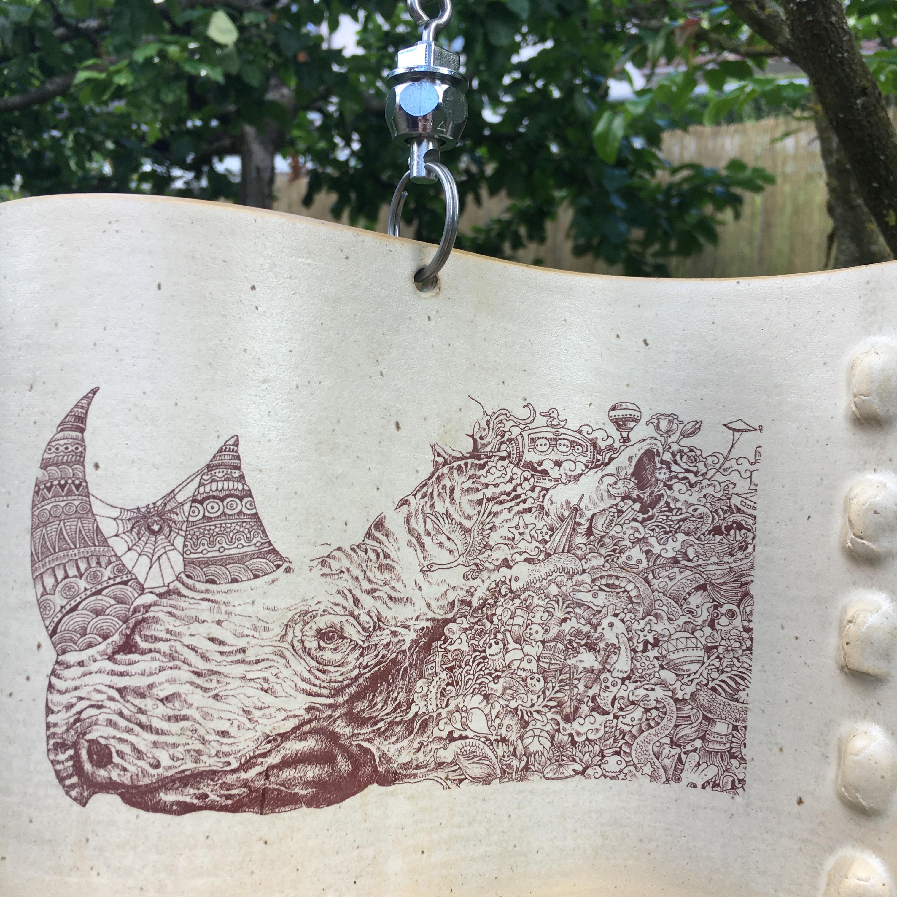 Windwelle mit Comic Print Einzelstück