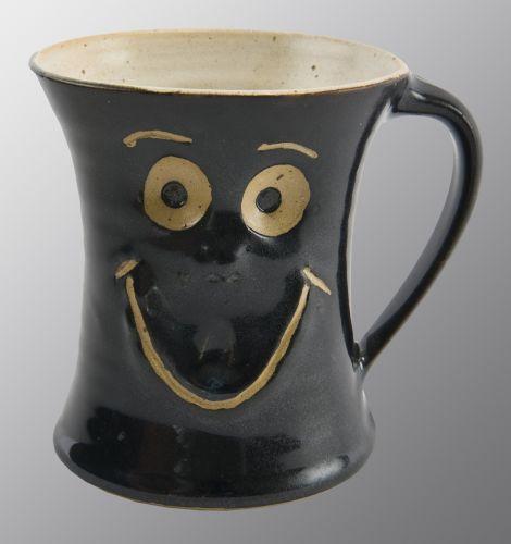 Schmunzel Tasse Schwarz