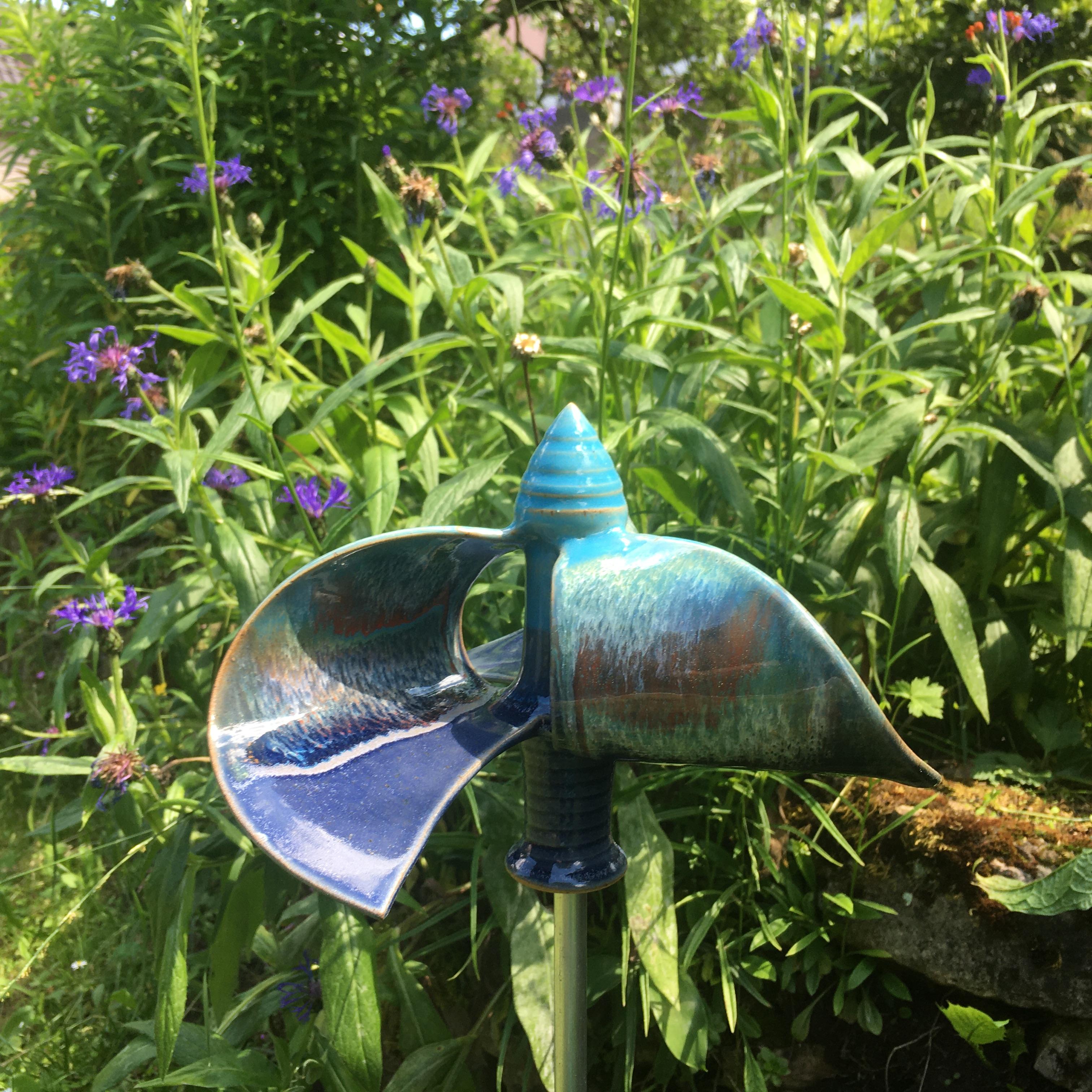 Windmühle stehend blau/ türkis